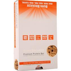 Bonk Breaker Premium Protein Bar Peanut Butter Dark Chocolate Chip 12 bars