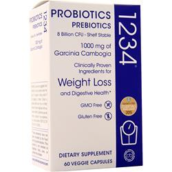 Creative Bioscience 1234 Probiotics - Prebiotics 8 billion CFU 60 vcaps
