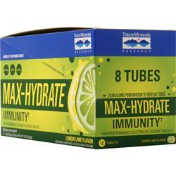 Trace Minerals Research Max-Hydrate Immunity Lemon Lime 8 unit
