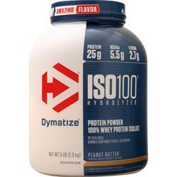 Dymatize Nutrition ISO-100 Peanut Butter 5 lbs