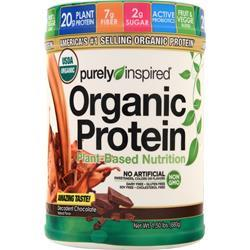 Iovate Purely Inspired - Organic Protein 100% Plant-Based Nutritional Shake Decadent Chocolate 1.5 lbs