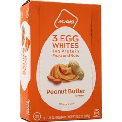 Nugo Nutrition 3 Egg Whites Bar Peanut Butter 12 bars
