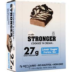 Nugo Nutrition NuGo Stronger Bar Cookies 'N Cream 12 bars