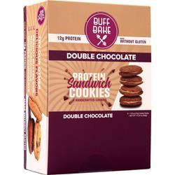 Buff Bake Protein Sandwich Cookie Double Chocolate 8 pack