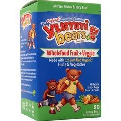 Yummi Bears Wholefood Fruit + Veggie Fruit & Veggie 90 bears
