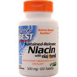 Doctor's Best Sustained-Release Niacin with NiaXtend (500mg) 120 tabs