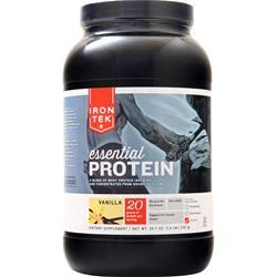 Iron-Tek Essential Natural High Protein (Buy one Get one Free) Vanilla 3.14 lbs