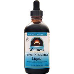 Source Naturals Wellness Herbal Resistance Liquid Alcohol Free Formula 4 fl.oz