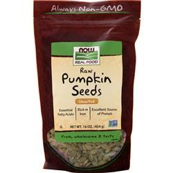 Now Raw Pumpkin Seeds Unsalted 16 oz
