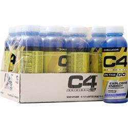 Cellucor C4 On the Go Pre-Workout RTD Icy Blue Razz 12 bttls
