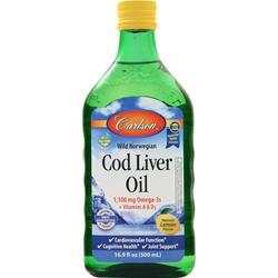 Carlson Wild Norwegian Cod Liver Oil Lemon 16.9 fl.oz