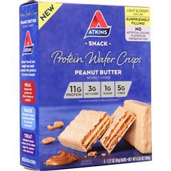 Atkins Protein Wafer Crisp Snack Peanut Butter 5 bars