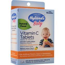 Hylands Homeopathic Baby Vitamin C (25mg) Natural Lemon 125 tabs