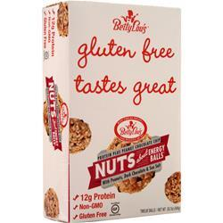 Betty Lou's Nuts About Energy Balls - Protein Plus Gluten Free Peanut Chocolate Chip 12 balls