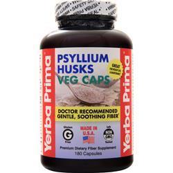 Yerba Prima Psyllium Husks Veg Caps 180 vcaps