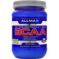 Allmax Nutrition BCAA - 100% Pure Micronized 2:1:1 Ratio Unflavored 400 grams