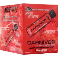 MuscleMeds Carnivor Liquid Protein Shots Fruit Punch 12 bttls