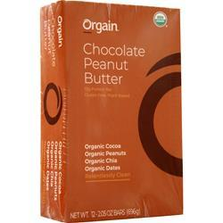 Orgain Protein Bar Chocolate Peanut Butter 12 bars