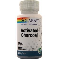 Solaray Activated Charcoal (280mg) 90 vcaps