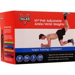 Valeo Adjustable Ankle/Wrist Weights 5lb Each (10lb Pair) 2 unit