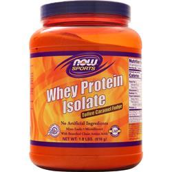 Now Whey Protein Isolate - Natural Toffee Caramel Fudge BEST BY 8/19 1.8 lbs