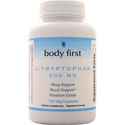Body First L-Tryptophan (500mg)  BEST BY 5/19 120 vcaps