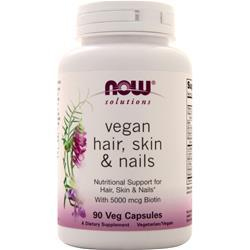 Now Hair, Skin & Nails - Vegan 90 vcaps
