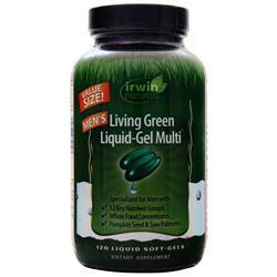 Irwin Naturals Men's Living Green Liquid-Gel Multi 120 sgels