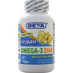 Deva Nutrition Vegan Omega-3 DHA Non-Fish 90 sgels
