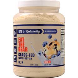 Eat the Bear Naturally Grass-Fed Whey Protein (Buy 1 Get 1 Free) Blueberry Muffin 3.1 lbs