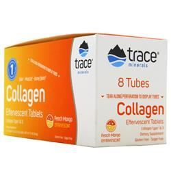 Trace Minerals Research Collagen Effervescent Tablets Peach Mango 80 tabs