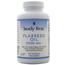 Body First Flax Seed Oil (1000mg) - Certified Organic 120 sgels
