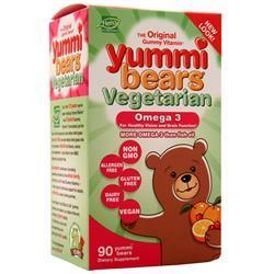 Yummi Bears Omega 3 Plant Based Cranberry-Orange 90 bears