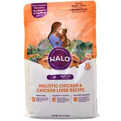 Halo Adult Cat Holistic Chicken & Chicken Liver 3 lbs