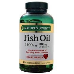 Nature's Bounty Fish Oil (1200mg) 200 sgels