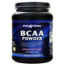 BodyStrong BCAA Powder Natural Fruit Punch 500 grams