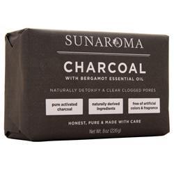 Sunaroma Body Bar Charcoal 8 oz
