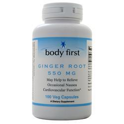 Body First Ginger Root (550mg) 100 vcaps