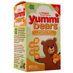 Hero Yummi Bears - Vitamin D3 Orange 60 bears