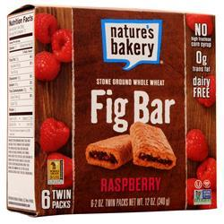 Nature's Bakery Fig Bar Raspberry (6TwinPacks) BEST BY 9/12/19 12 bars