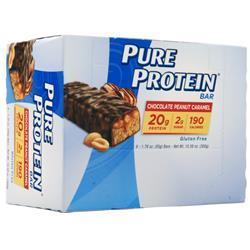 Worldwide Sports Pure Protein Bar Chocolate Peanut Caramel 6 bars