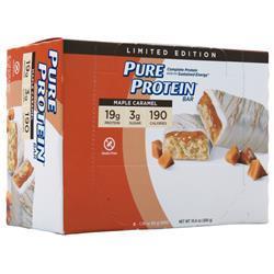 Worldwide Sports Pure Protein Bar Maple Caramel 6 bars