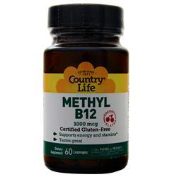 Country Life Methyl B12 (1000mcg) Cherry 60 lzngs