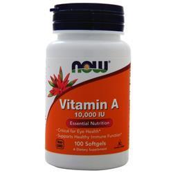 Now Vitamin A (10,000IU) 100 sgels