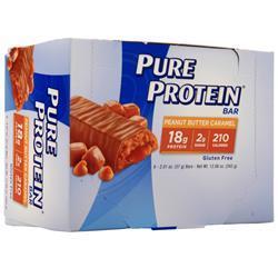Worldwide Sports Pure Protein Bar Peanut Butter Caramel 6 bars