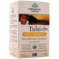 Organic India Tulsi Holy Basil Tea Honey Chamomile 18 pckts