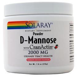 Solaray D-Mannose with CranActin Powder Lemon Berry 7.6 oz