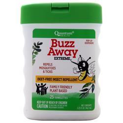 Quantum Buzz Away Extreme Towelettes 25 count