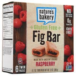 Nature's Bakery Fig Bar - Gluten Free Raspberry (6 Twin Packs) BEST BY 1/9/20 12 bars