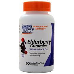 Doctor's Best Elderberry Gummies With Vitamin C & Zinc Berry Blast 60 gummy